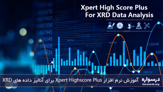 آموزش نرم افزار Xpert Highscore Plus برای آنالیز داده های XRD