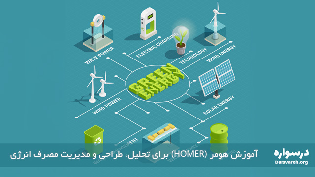 آموزش هومر (HOMER) برای تحلیل، طراحی و مدیریت مصرف انرژی